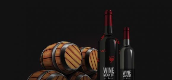 红酒包装展示样机 网站盒子分享
