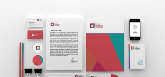 精美白色VI展示 网站盒子分享